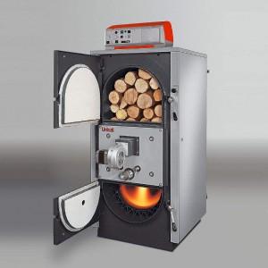 Chaudière à bois à alimention de bûches automatique